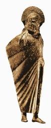 Esparta - Estatuilla en bronce de un guerrero espartano, del siglo VI a.C.