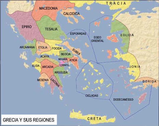 Mapa Grecia siglo V